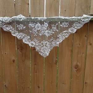 3/$15 Lace triangle scarf